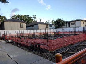 建設中の新園舎
